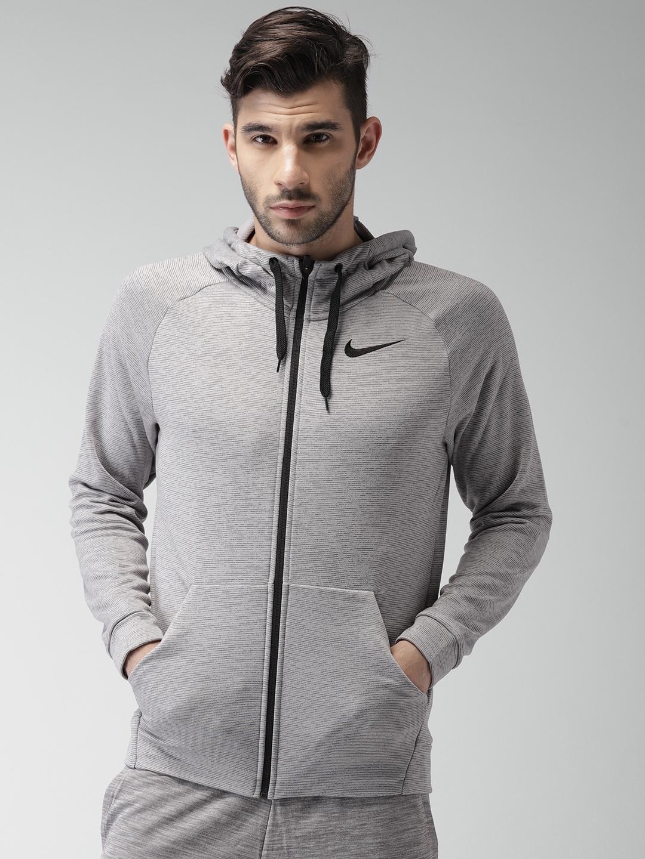 Buy Nike Men Grey AS M NK DRY HOODIE FZ