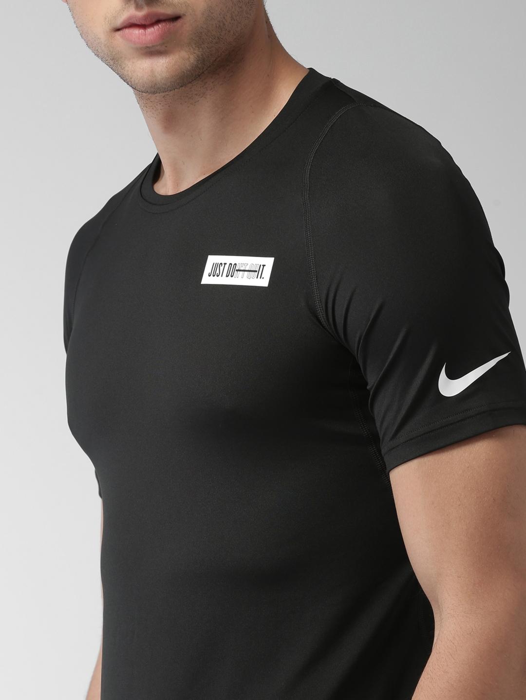 e12783324cadac Buy Nike Men Black AS M NP SS FTTD HBR SG 1 DRI FIT Slim Fit Solid Round  Neck T Shirt - Tshirts for Men 6814103