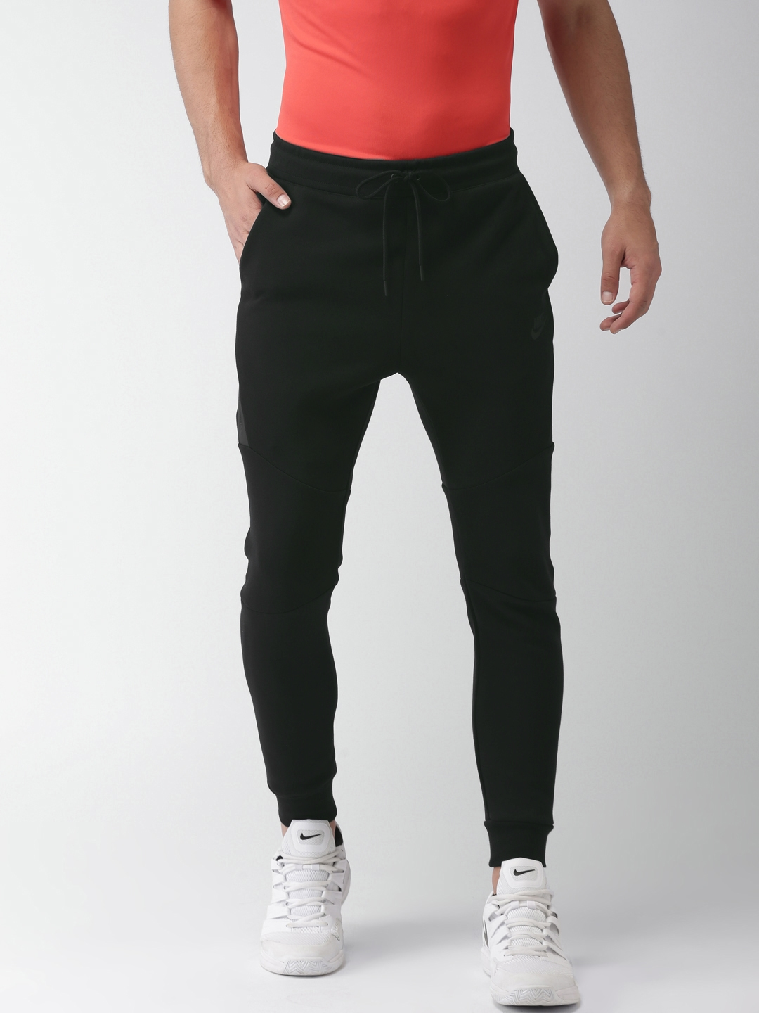 Buy Nike Men Black AS M NSW TCH FLC JGGR Slim Fit Joggers - Track ... bdcfebd16c06e