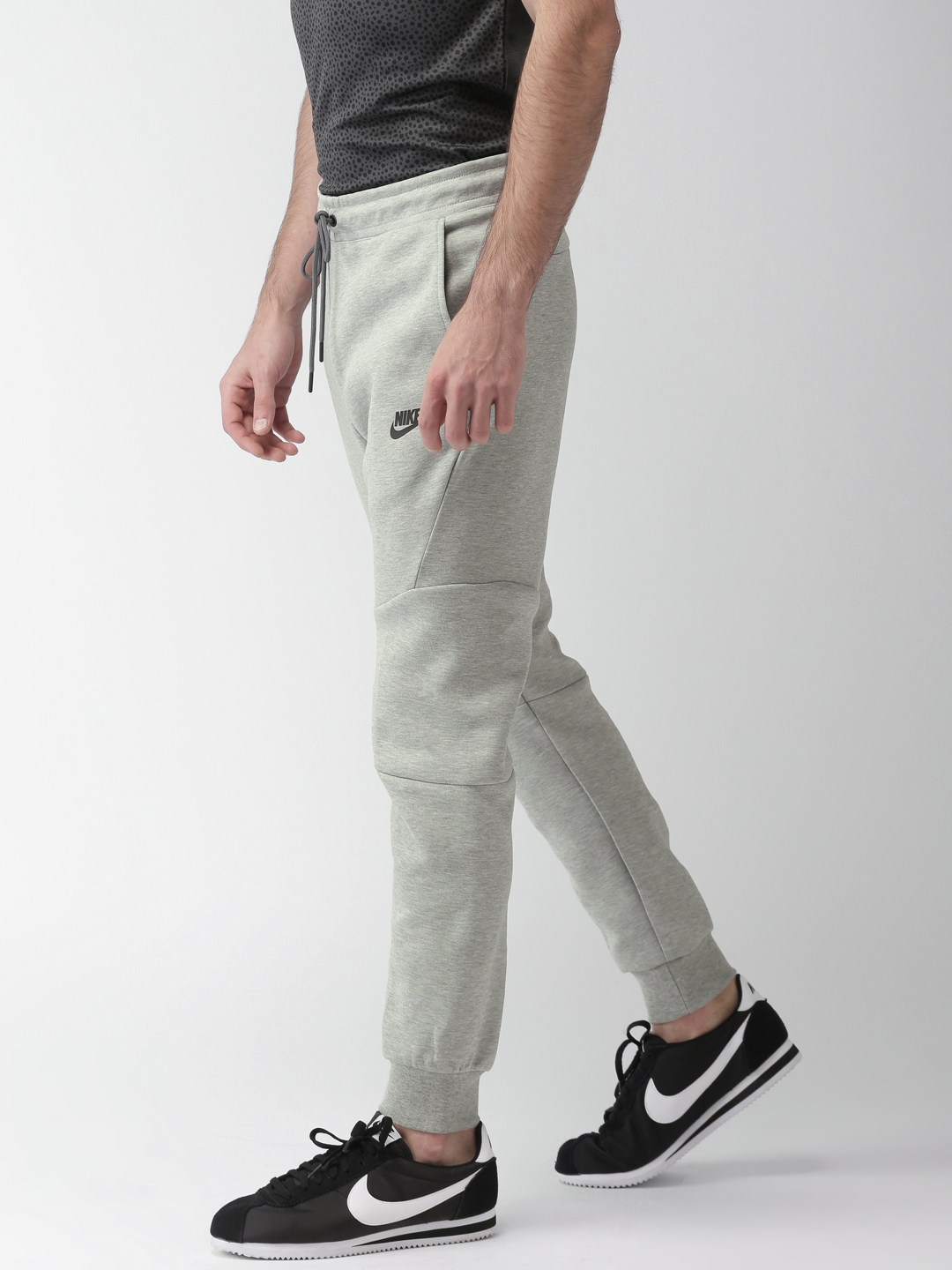 Buy Nike Men Grey AS M NSW TCH FLC JGGR Slim Fit Joggers - Track ... 35605421f709d