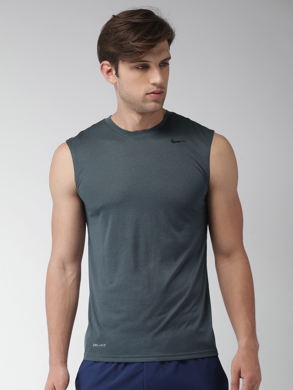 521794fdd Buy Nike Dry Men Blue DRI FIT Sleeveless Training T Shirt - Tshirts ...