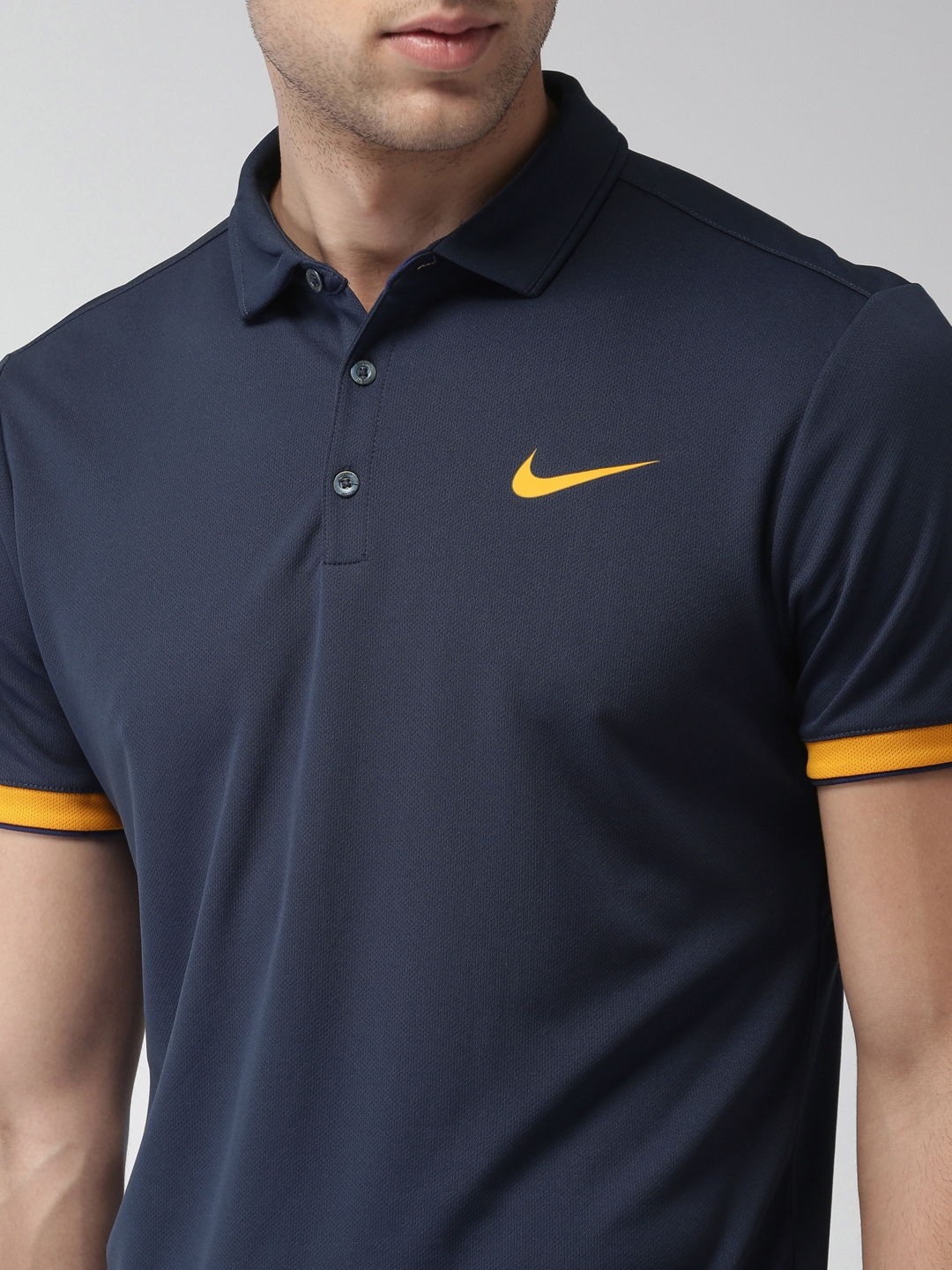 de5beac5d186 Buy Nike Men Blue Court Dry Standard Fit DRI FIT Polo T Shirt ...