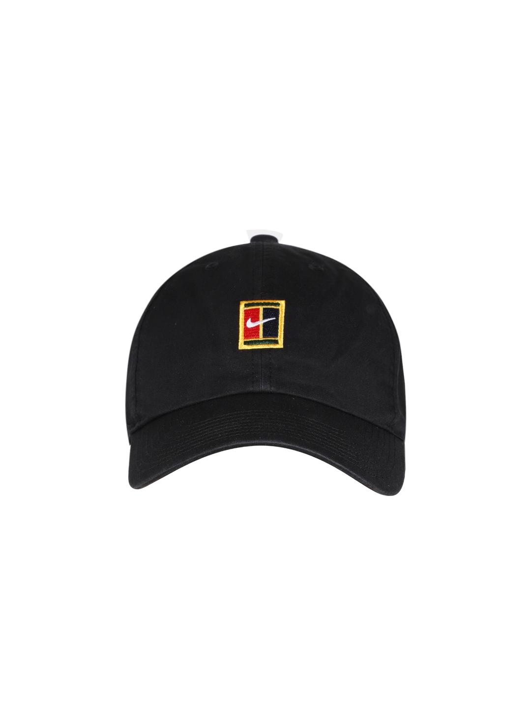 new style ee65b 2025e Nike Unisex Black U NK H86 Court Logo Baseball Cap