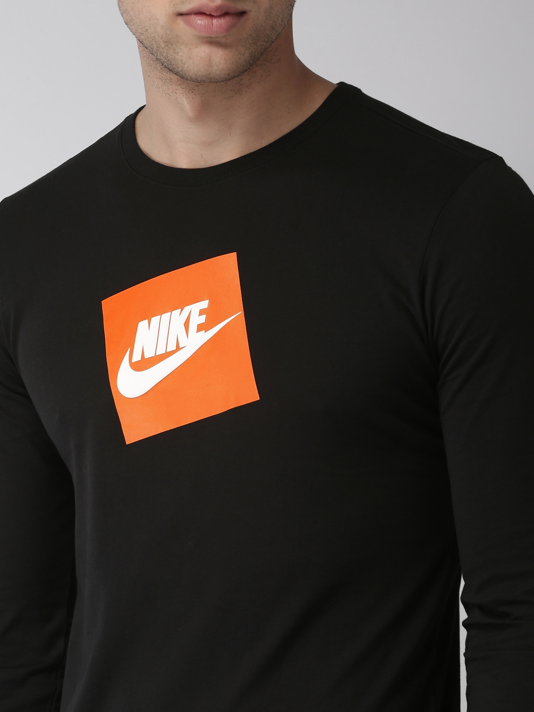 ceba9bad Buy Nike Men Black Printed Round Neck FUTURA BOX HBR T Shirt ...