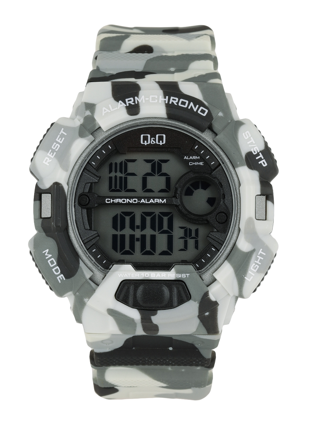 Q Q Men Black Digital Watch M132J006Y
