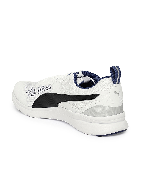577615601df379 Buy PUMA Men White   Black Flex Essential Tech Running Shoes ...