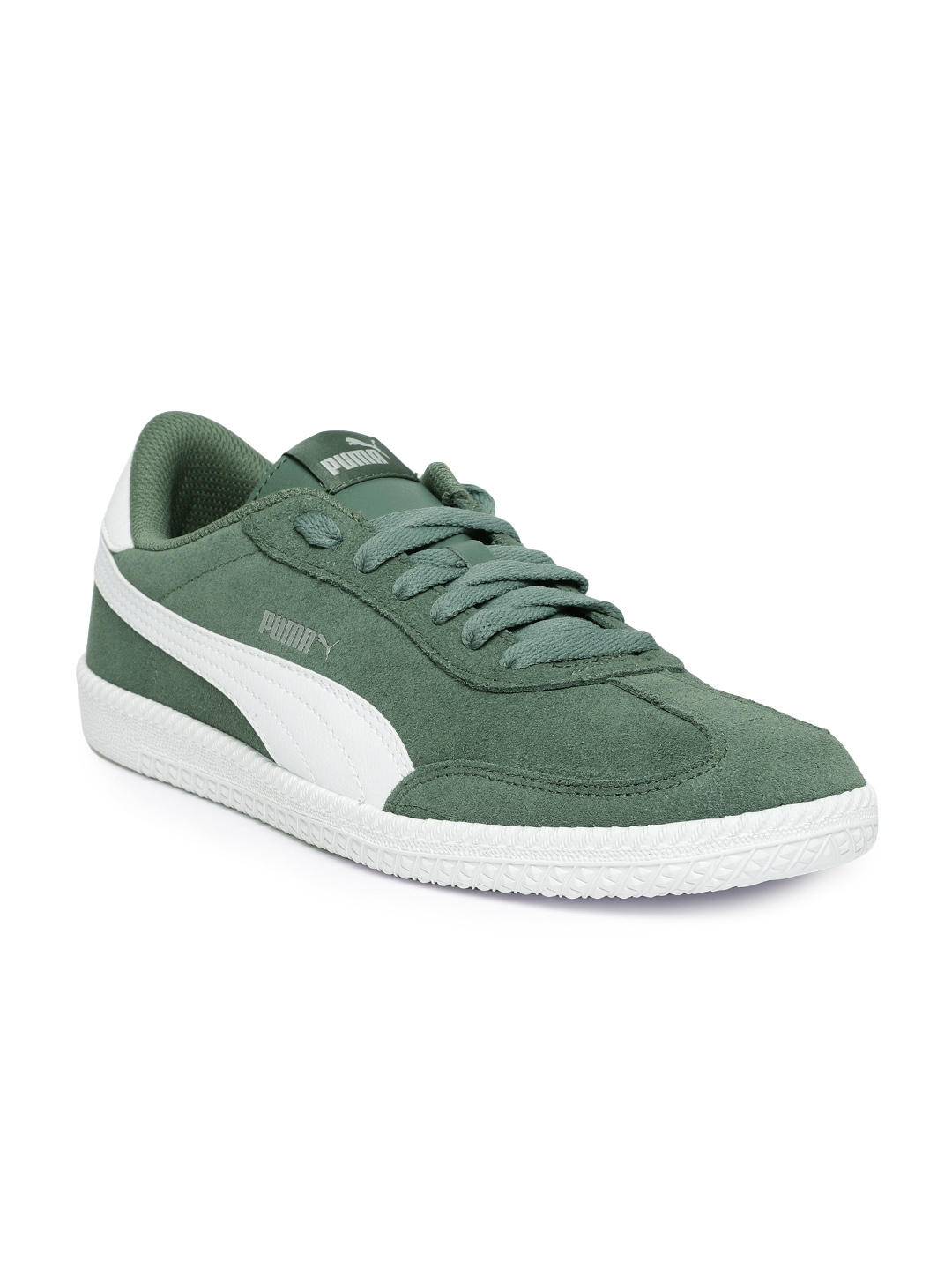 9f4ada5f055a Buy Puma Men Olive Green Astro Cup Suede Sneakers - Casual Shoes for ...