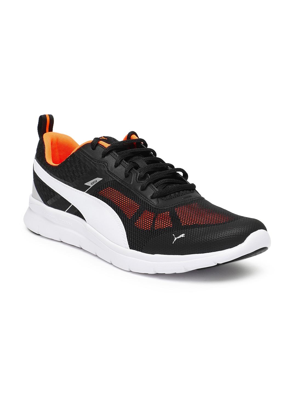 5119c6bde65c9f Buy Puma Men Black Flex Essential Tech Running Shoes - Sports Shoes ...