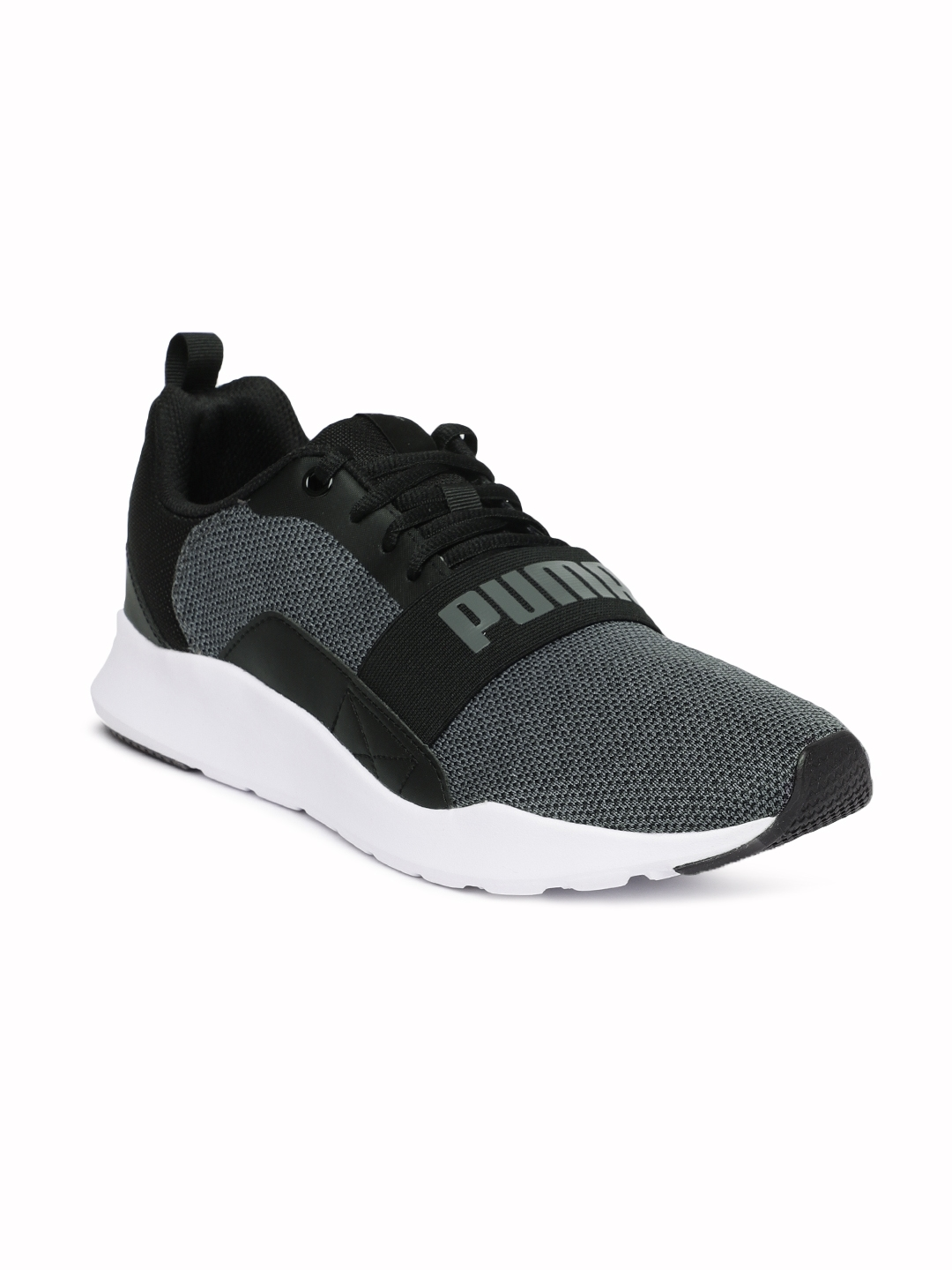 Buy Puma Men Black Wired Knit Sneakers - Casual Shoes for Men ... fcc3f6222