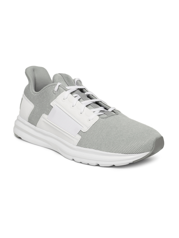 ef891ff37451 Buy Puma Men White   Grey Enzo Street Knit Interest Training Shoe ...
