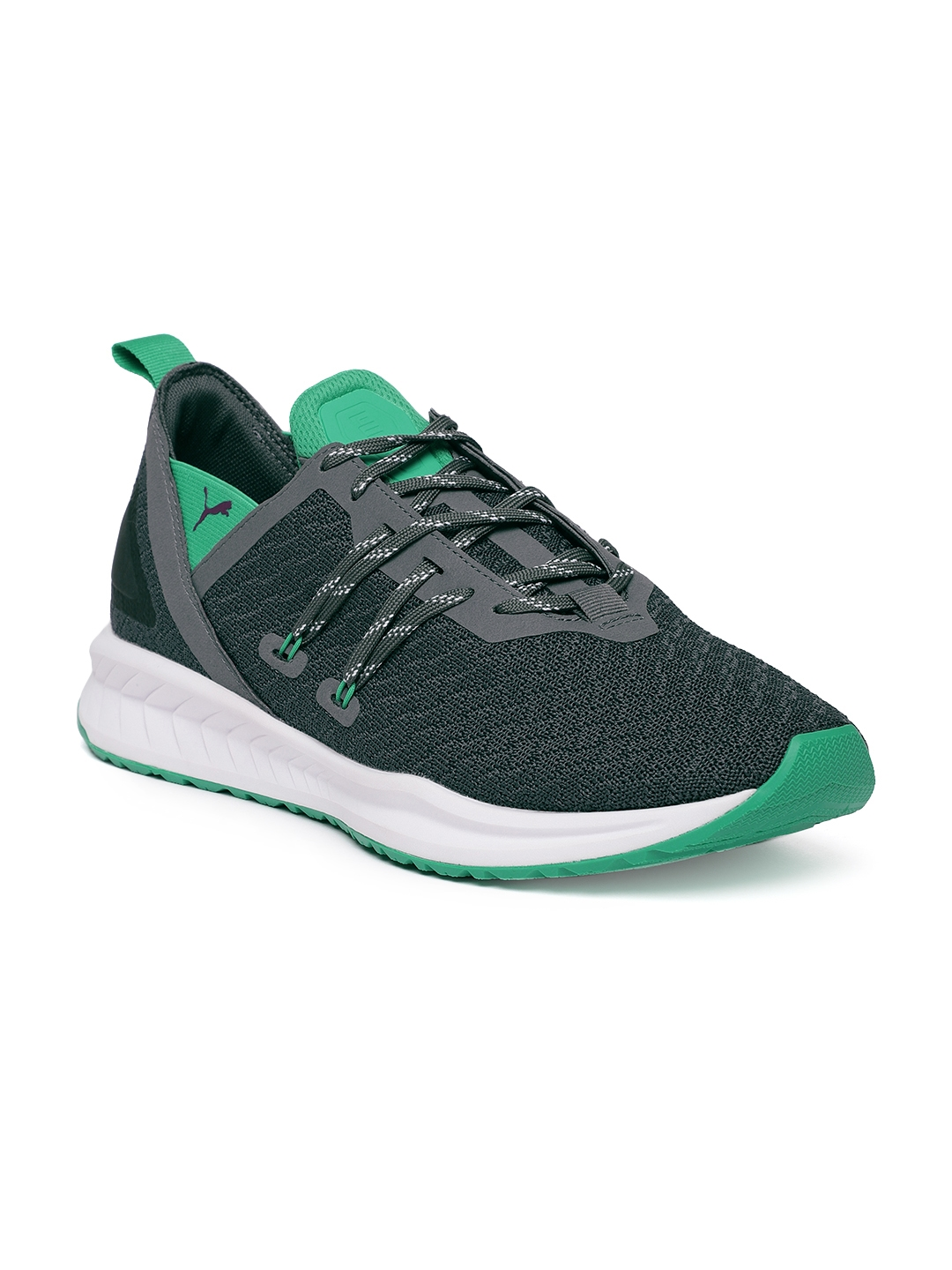 e13b2b49627 Buy Puma Men Grey   Green IGNITE Ronin Running Shoes - Sports Shoes ...