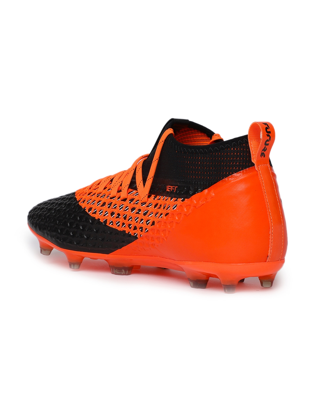 259e49f2cbe4 Buy Puma Men Orange   Black FUTURE 2.2 NETFIT FG AG Football Shoes ...