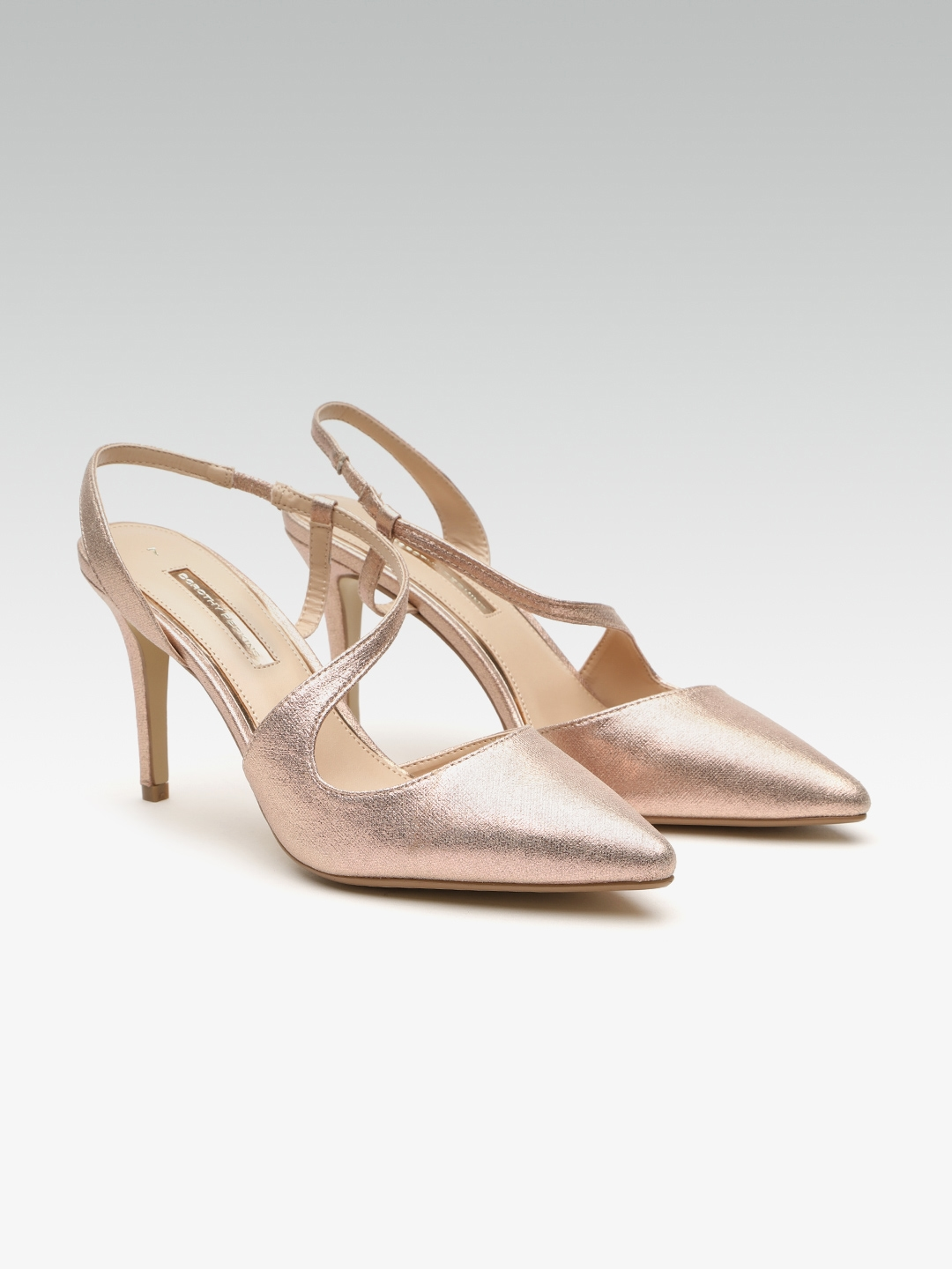 2b432b6b4b0 Buy DOROTHY PERKINS Women Rose Gold Toned Solid Pumps - Heels for ...