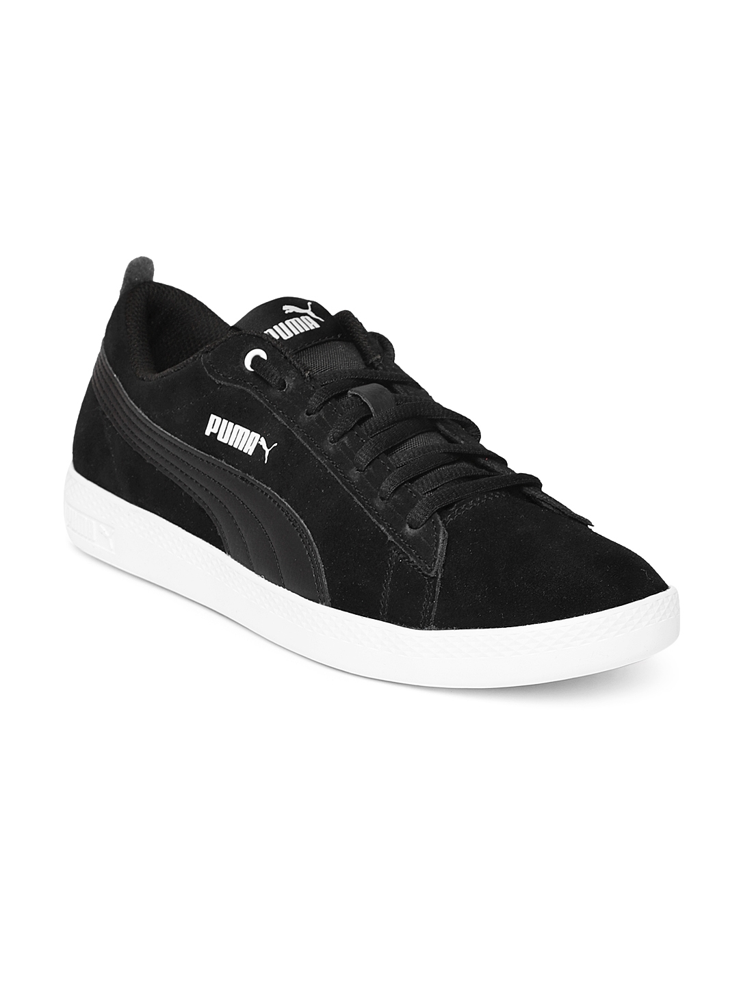 256c819201b Buy Puma Women Black Smash V2 Suede Sneakers - Casual Shoes for ...