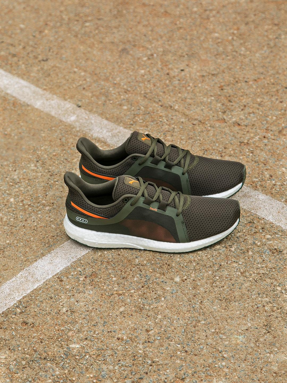 ac90beb7d2b3 Buy Puma Men Olive Green Mega NRGY Turbo 2 Running Shoes - Sports ...