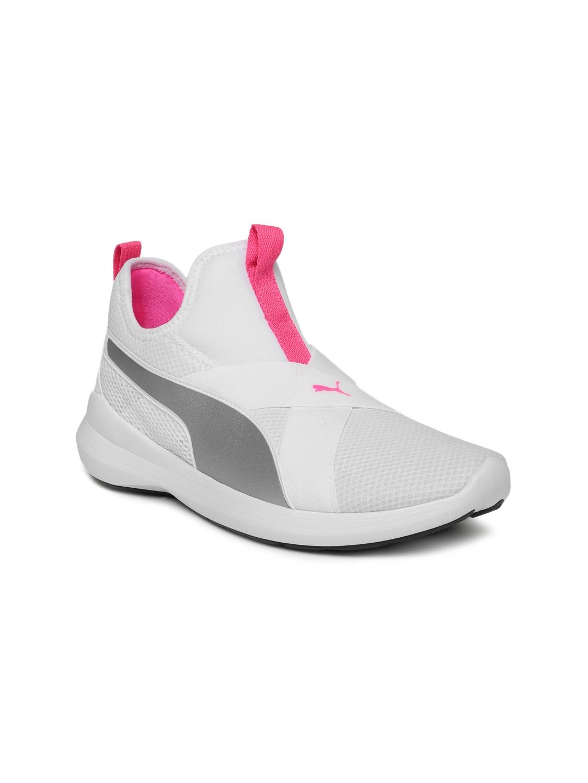 856d4f0c98de Buy Puma Women White Rebel X SOFTFOAM+ Training Shoes - Sports Shoes ...