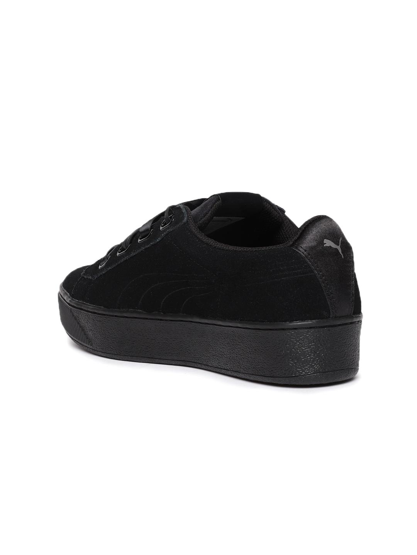 bb9406fcd9a98c Buy Puma Women Black Vikky Platform Ribbon S Sneakers - Casual Shoes ...