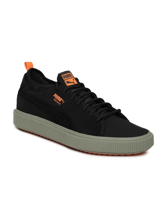 Buy Puma Men Black Breaker Mesh FOF Suede Casual Shoes - Casual ... cbe10cd6a