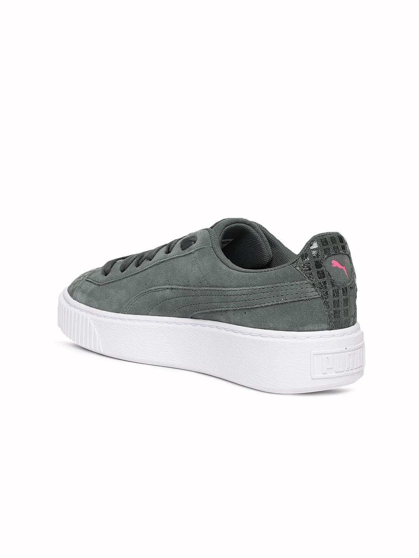 abd283c9532 Buy Puma Women Grey Suede Platform Street 2 Sneakers - Casual Shoes ...