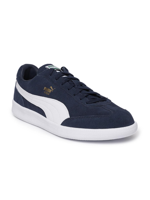 adbb63fc2427b2 Buy Puma Men Liga Suede Navy Blue Sneakers - Casual Shoes for Men ...