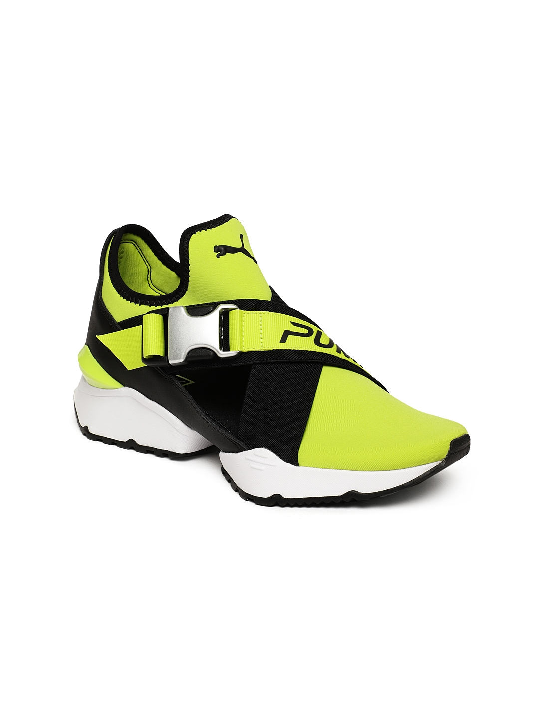 ce9d0ee19cb Buy Puma Women Black   Yellow Muse EOS Cut Out Sneakers - Casual ...