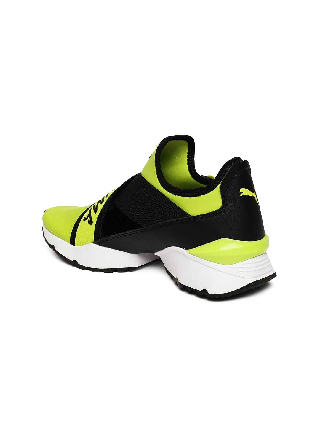 Buy Puma Women Black   Yellow Muse EOS Cut Out Sneakers - Casual ... b9082af9d