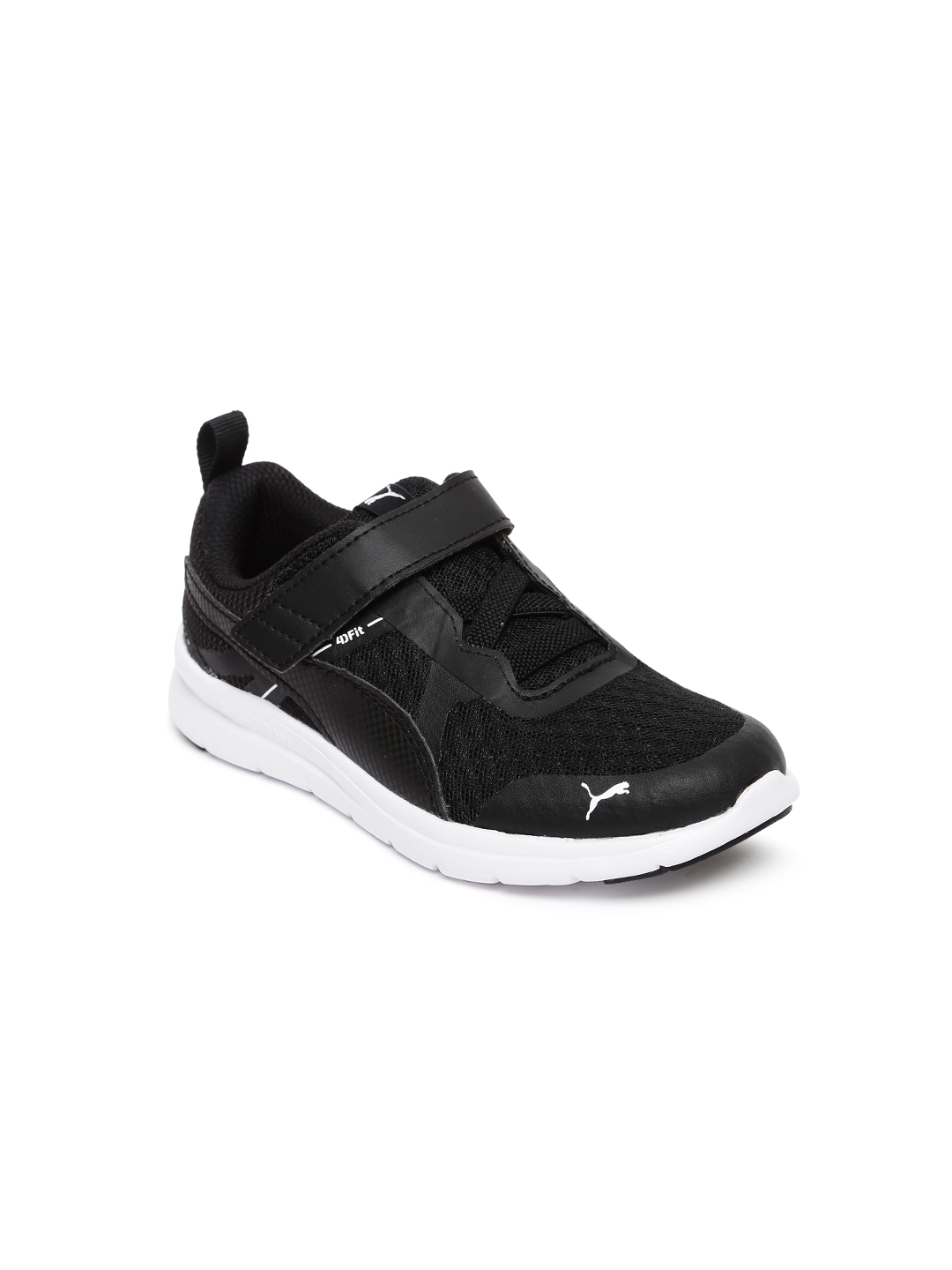 4abd258459fe Buy Puma Kids Flex Essential V PS Black Sneakers - Casual Shoes for ...