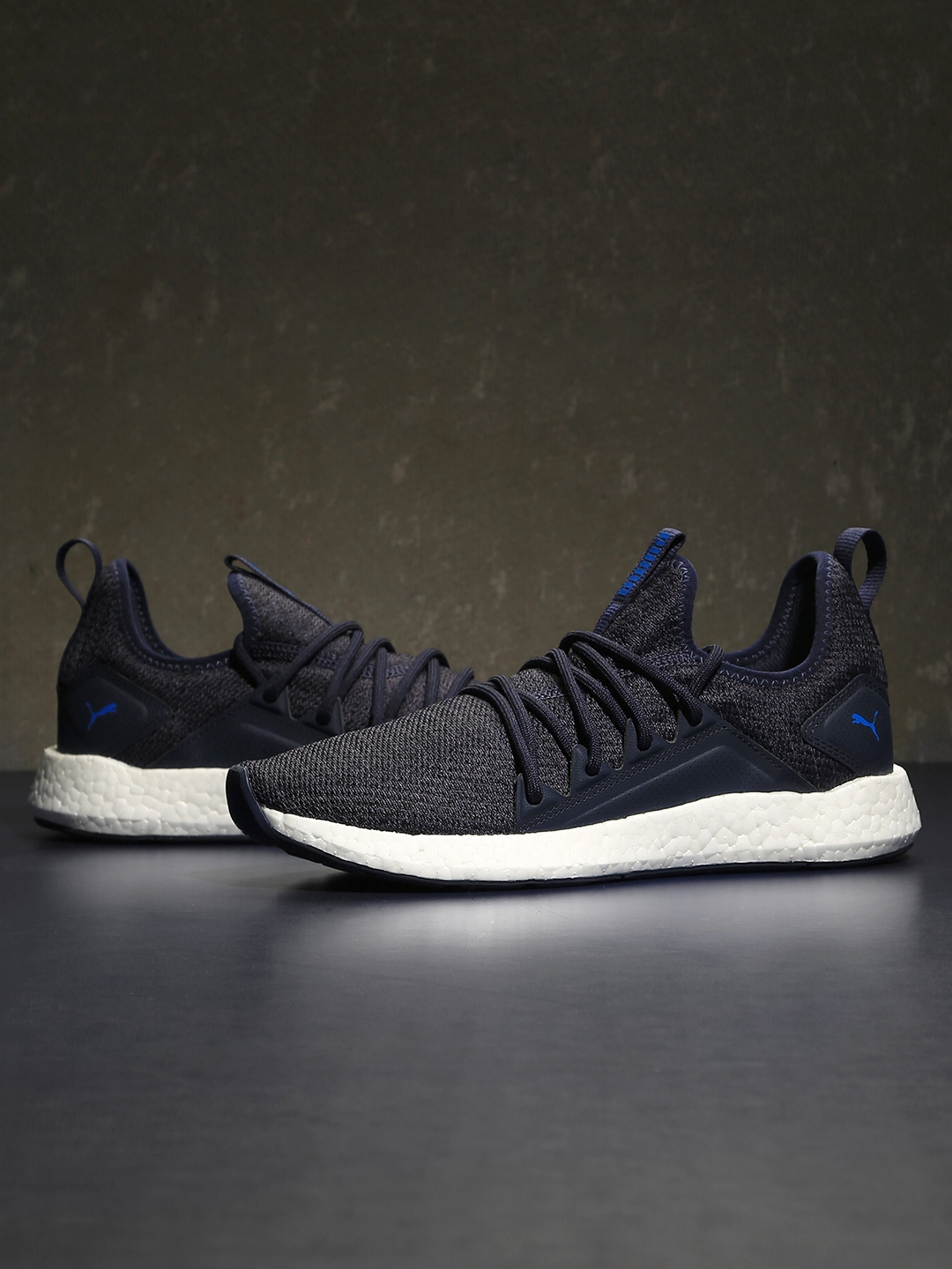 check out ff618 eb9db Puma Men Navy Blue NRGY Neko Knit Running Shoes