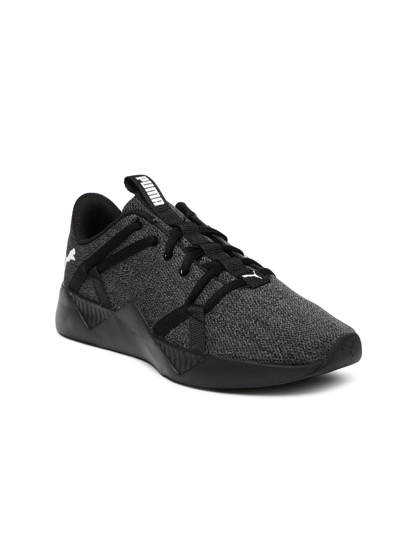 a5f3c28a85 Puma Women Black Incite Knitted Training Shoes