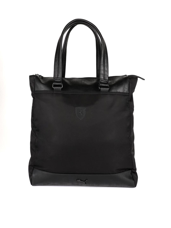 0585d5116b763 Puma Black Solid Ls Per Tote Bag Handbags For Women