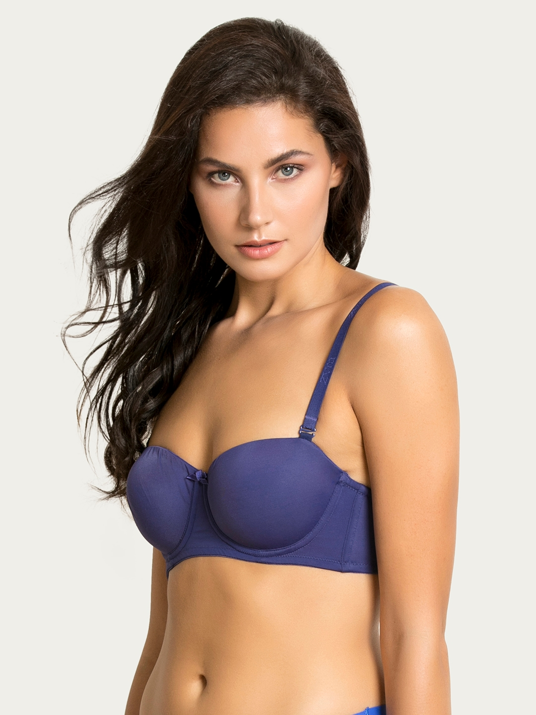ba94df462ead Zivame Blue Solid Underwired Lightly Padded Push-Up Bra ZI1133COREABLUE
