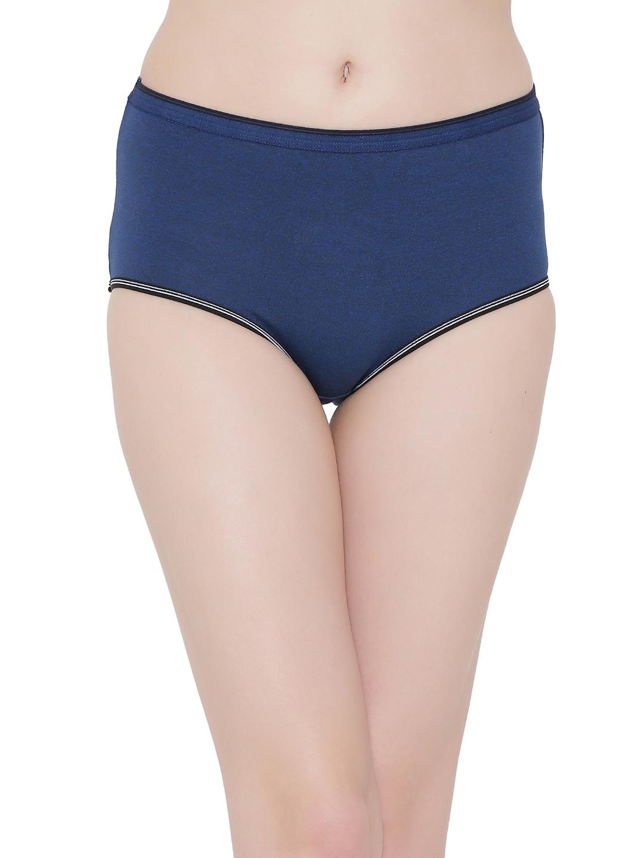 00e2317e1b71 Buy Clovia Cotton Blue Mid Waist Hipster Panty PN2640P16XL - Briefs ...
