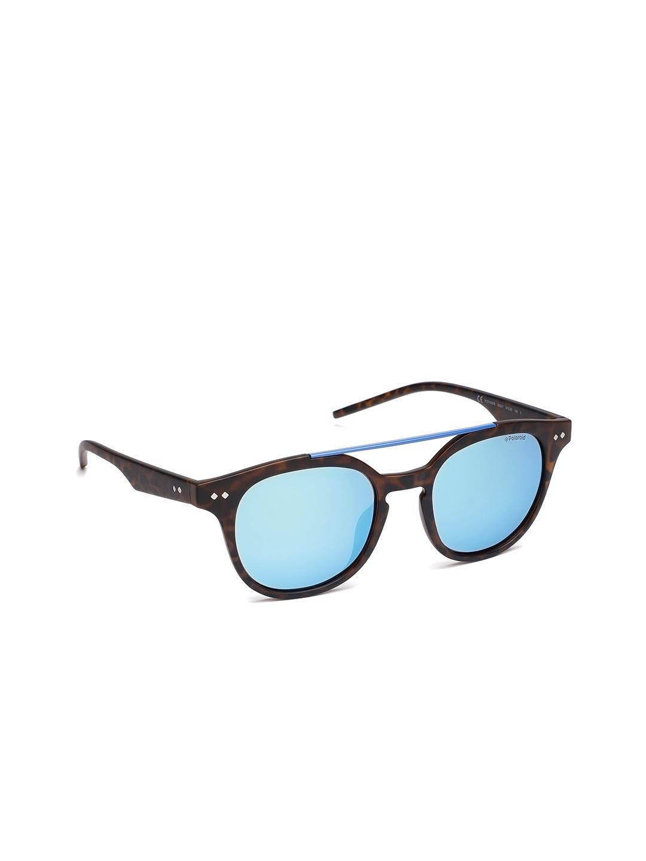 1467471346cf Buy Polaroid Unisex PLD 1023/S 202 51JY Round Mirrored Sunglasses ...