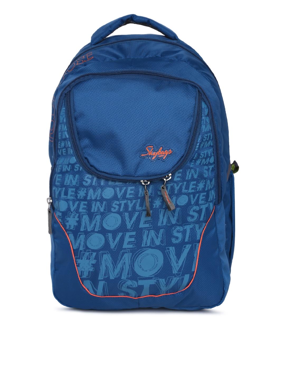039dd72abaf Buy Skybags Unisex Blue Printed VADER 2 Laptop Backpack - Backpacks ...