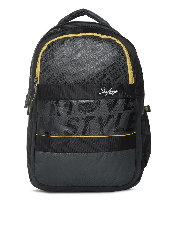 133a54d866d2 Buy Skybags Unisex Black VADER 1 Solid Backpack - Backpacks for ...