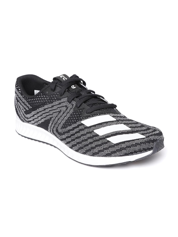 9379d2acd ADIDAS Men Black & White Aerobounce PR Running Shoes. Best Price: ...