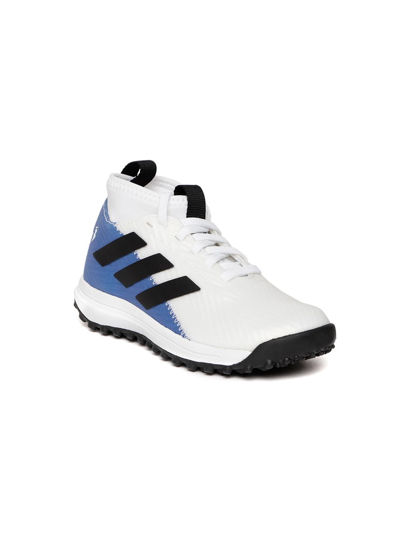 f71748549e5 Buy ADIDAS Kids White   Blue Rapidaturf Messi Training Shoes ...