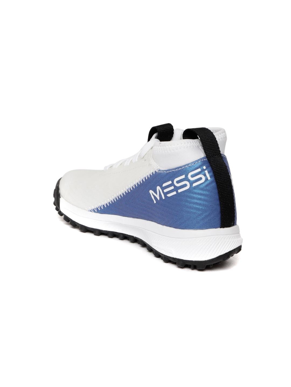 674b4841dcf Buy ADIDAS Kids White   Blue Rapidaturf Messi Training Shoes ...