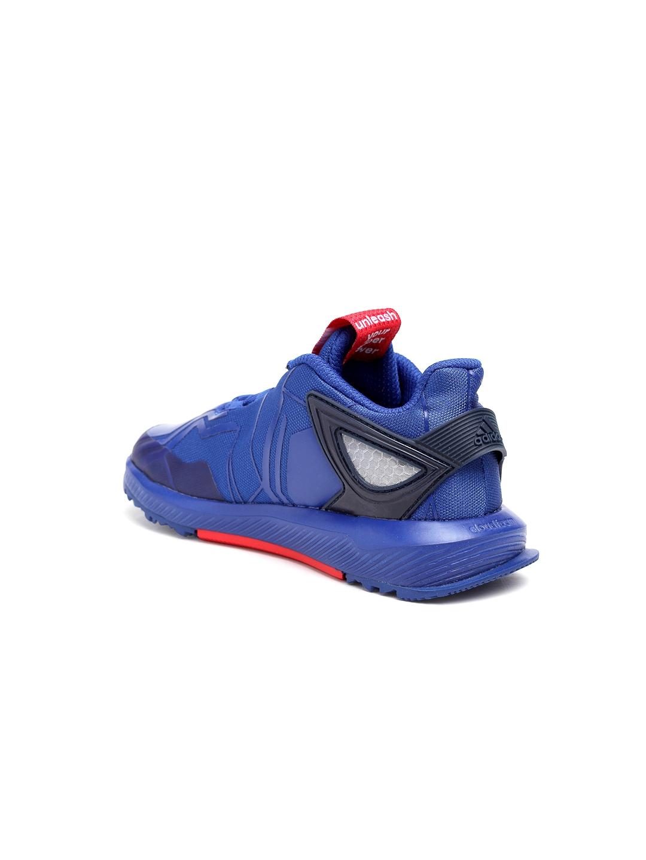 d30d4b07156 Buy Adidas Kids Blue RapidaRun Spider Man K Printed Running Shoes ...