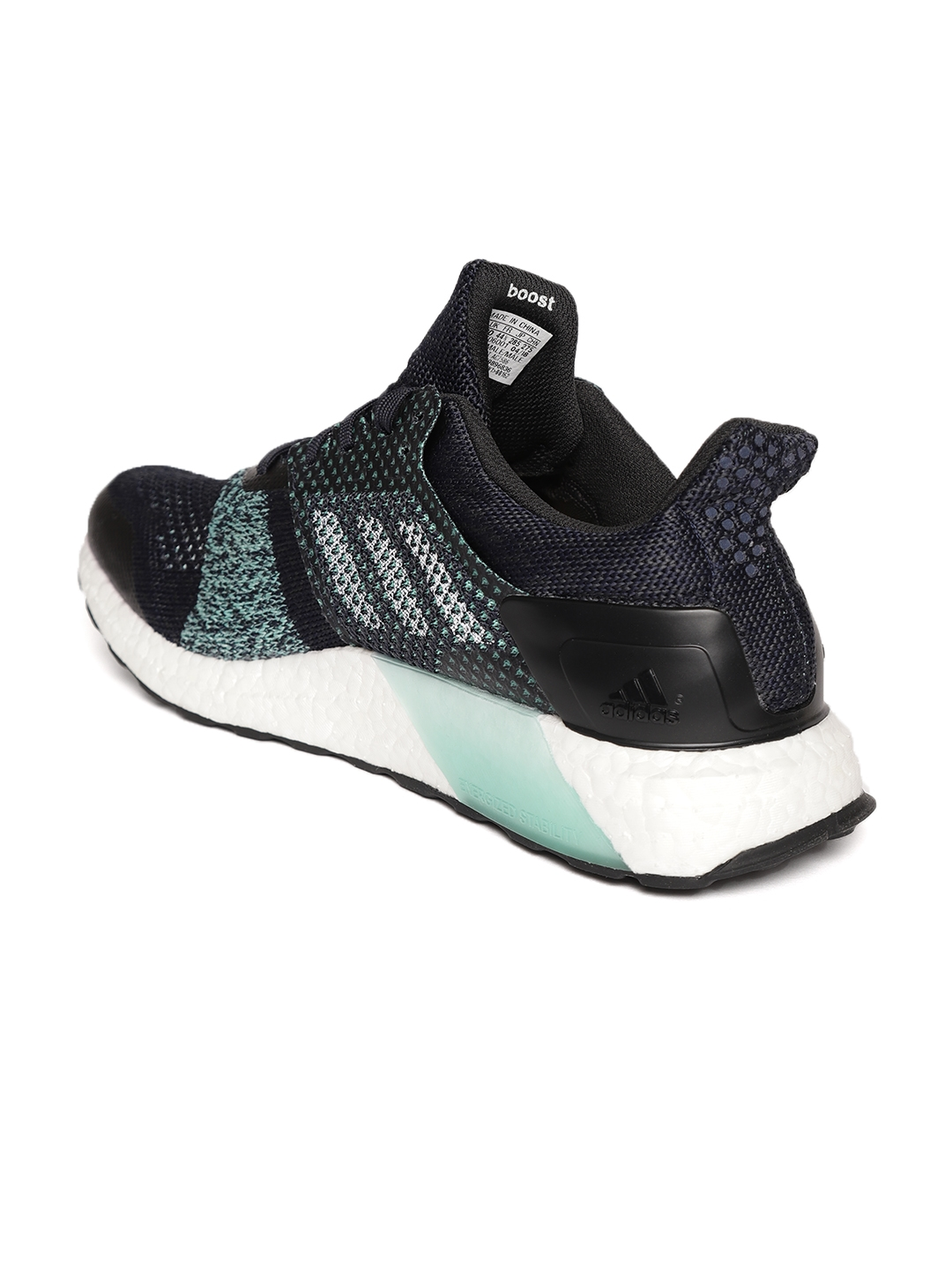 4d71416198ff3 Buy ADIDAS Men Navy Blue   Sea Green Ultraboost ST M Parley Running ...