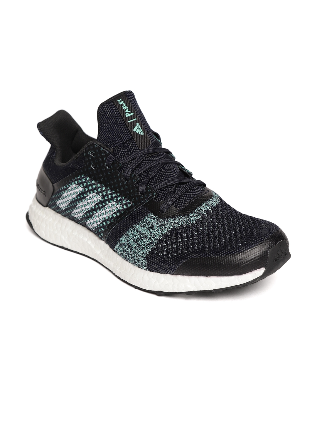 abca4b66d Buy ADIDAS Men Navy Blue   Sea Green Ultraboost ST M Parley Running ...