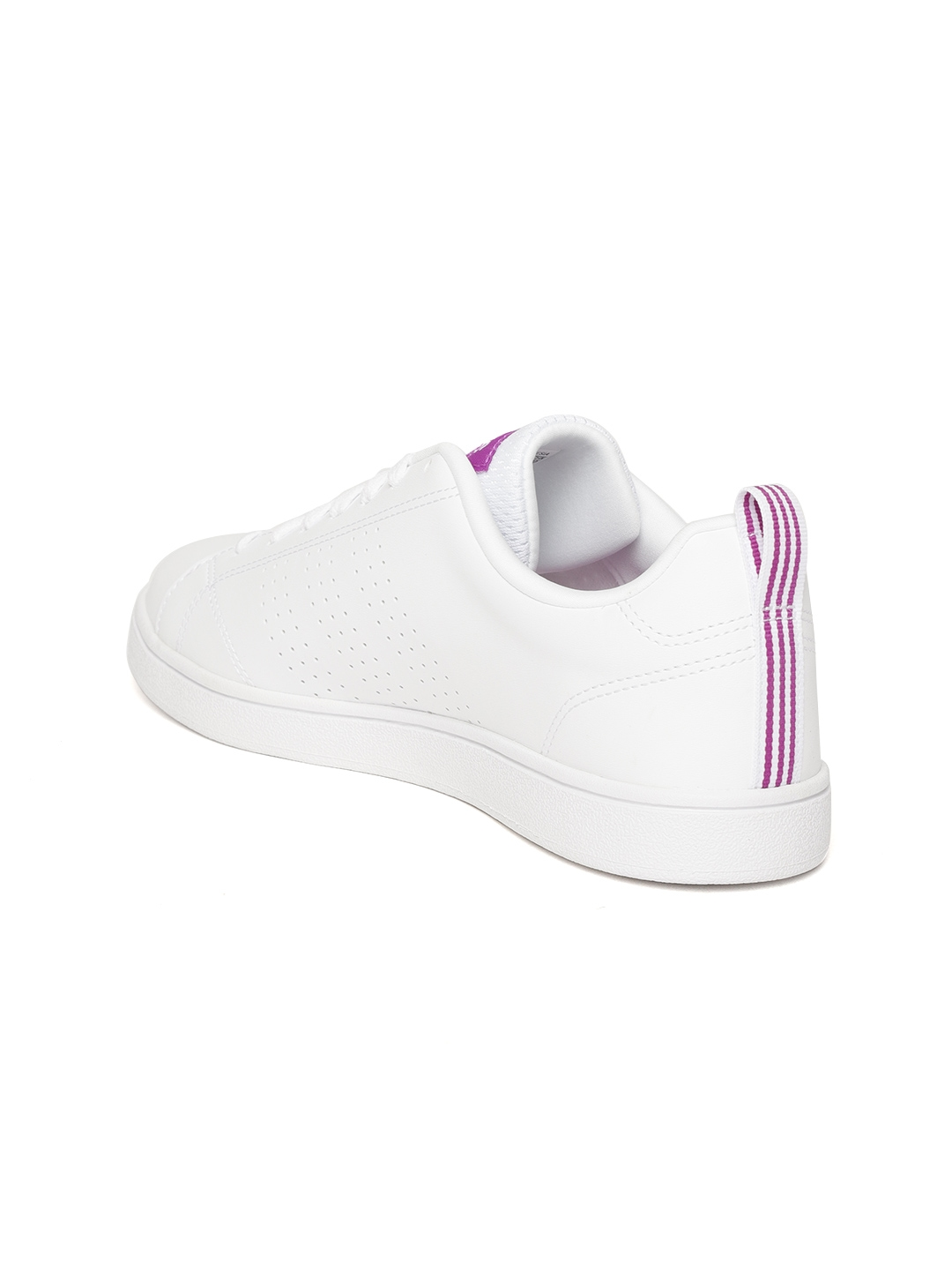 hot sale online 4f030 0d481 ADIDAS Women White VS ADVANTAGE CL Tennis Shoes