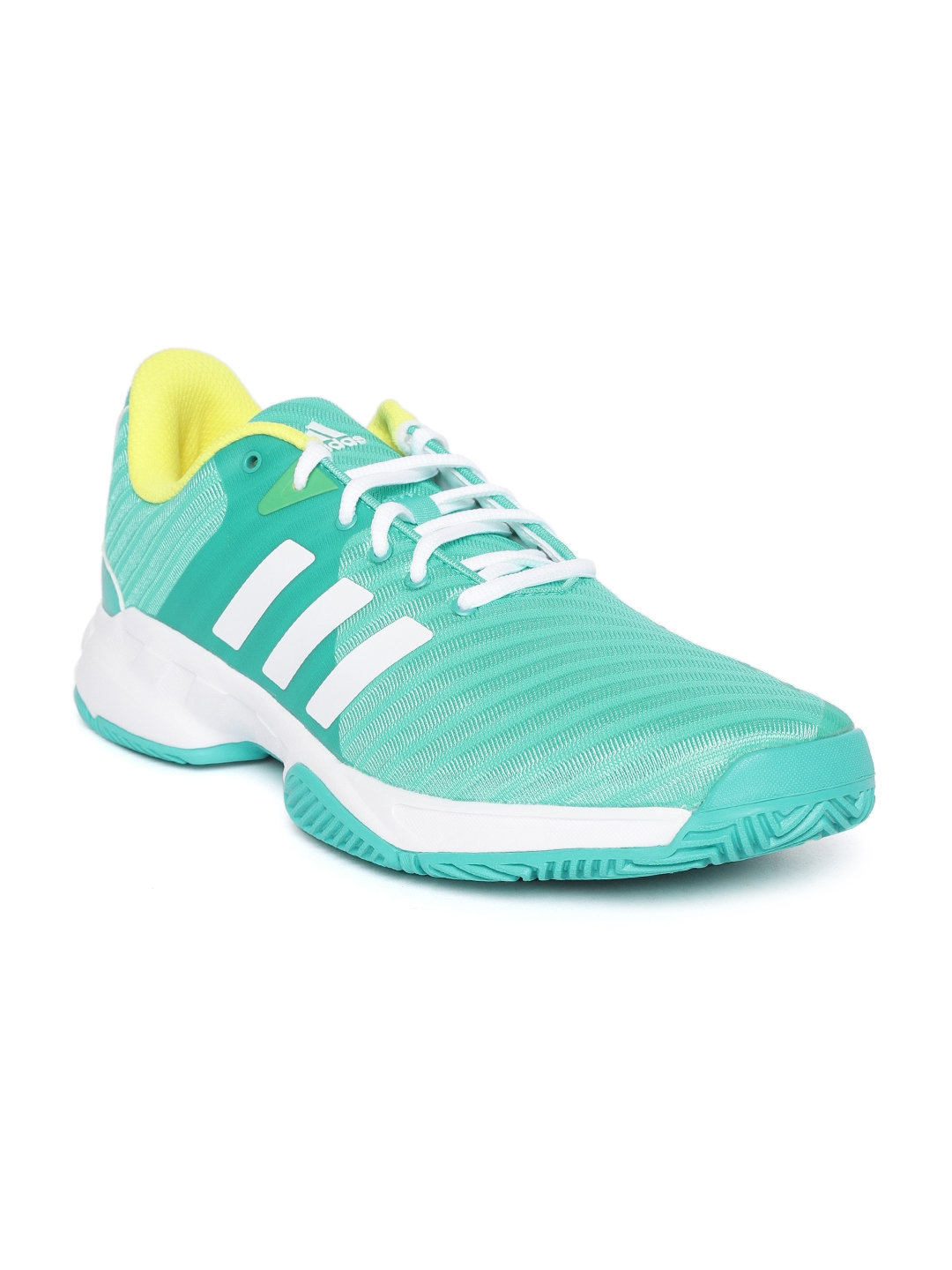 super popular 5bcaf 9cbcd ADIDAS Men Sea Green Barricade Court 3 Tennis Shoes