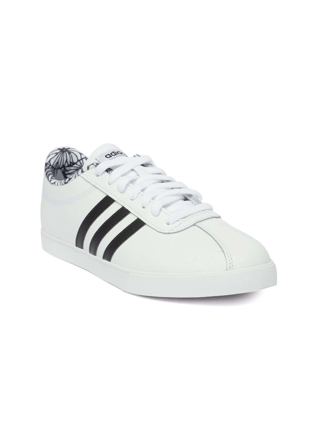 buy popular 460c8 17334 ... cheap adidas women white courtset leather tennis shoes 2b411 ccba6