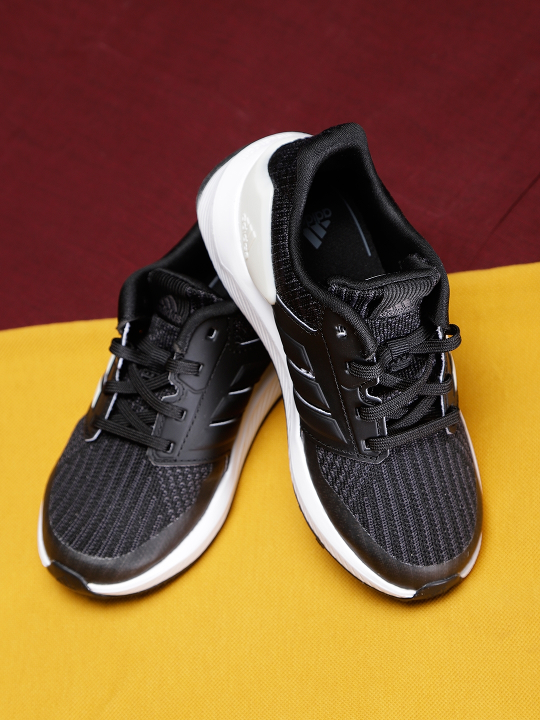 6440a71a4a2f Buy ADIDAS Kids Black Rapidarun Knit Running Shoes - Sports Shoes ...