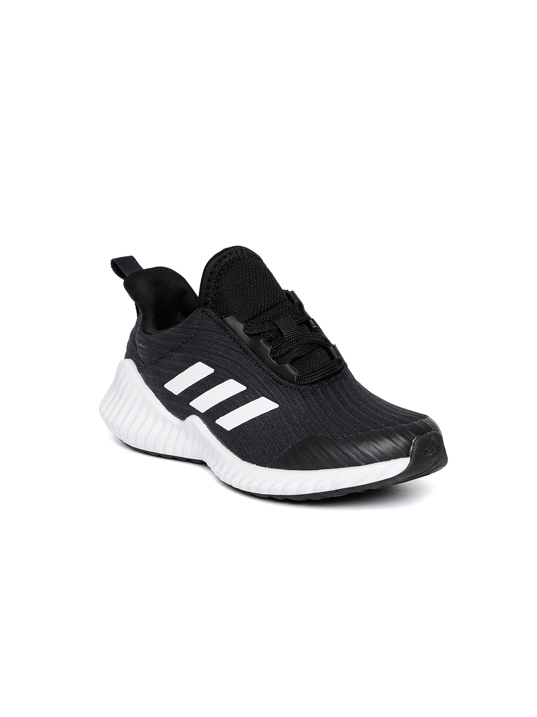 check out 9032a b7eb0 ADIDAS Kids Black Fortarun Self Striped Running Shoes