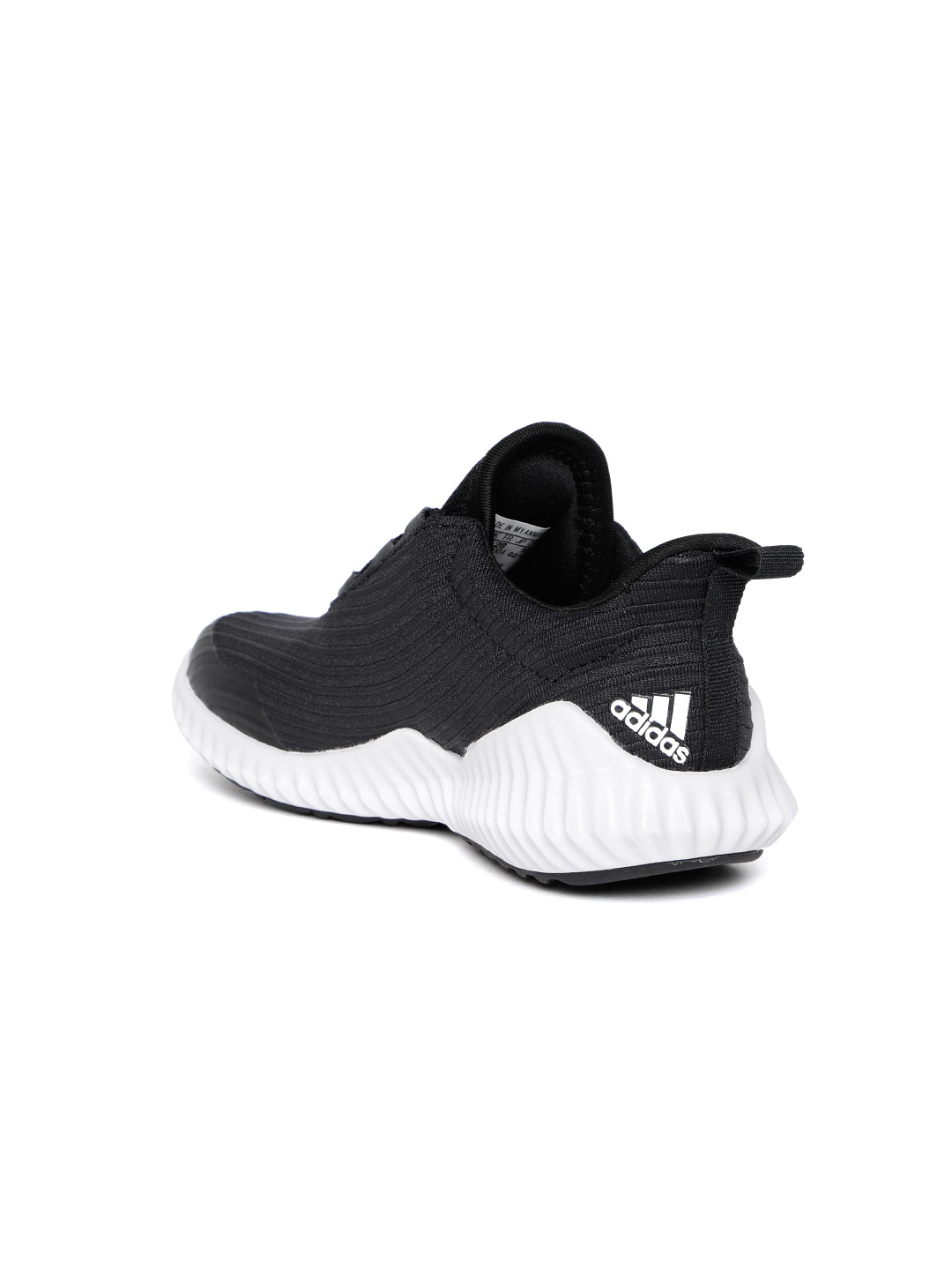 check out a7d21 74024 ADIDAS Kids Black Fortarun Self Striped Running Shoes