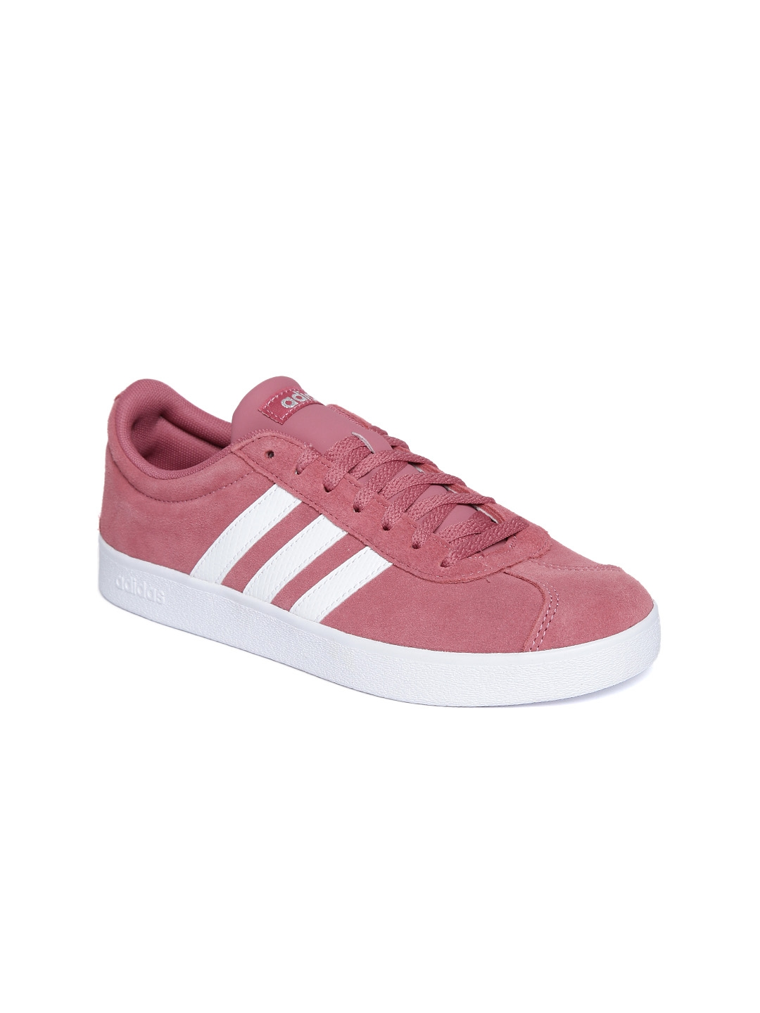 0687495d49d Buy ADIDAS Women Dusty Pink VL Court 2.0 Leather Skateboarding Shoes ...
