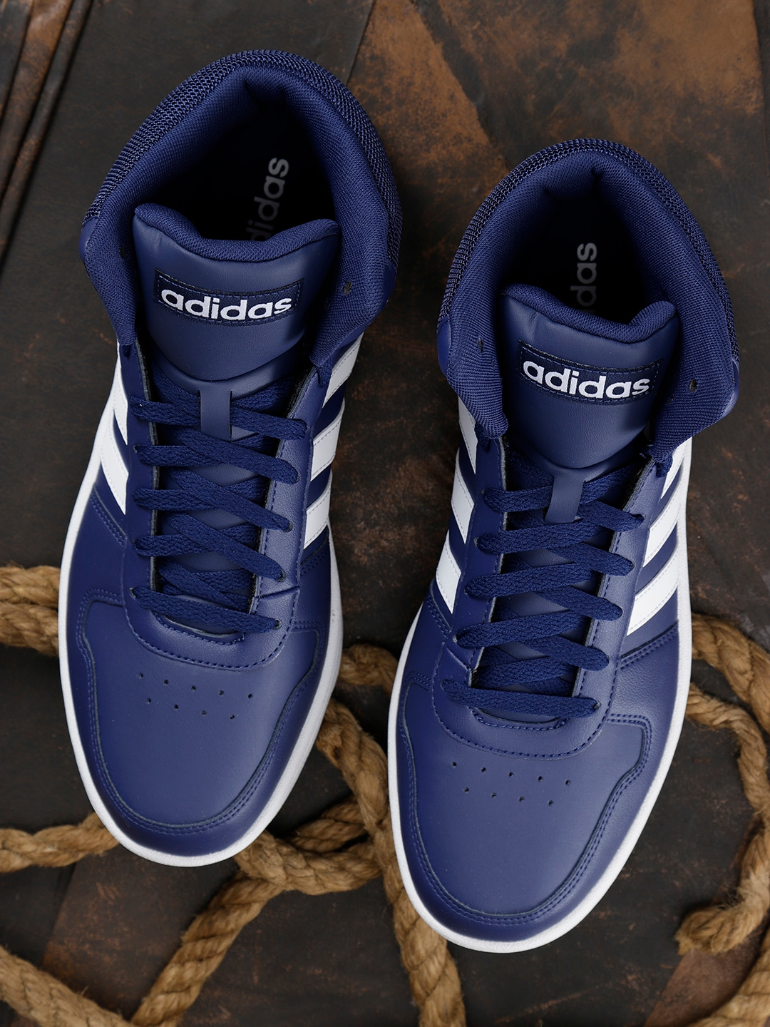 10f1d58e2556 Buy ADIDAS Men Navy Blue Hoops 2.0 Mid Basketball Shoes - Sports ...