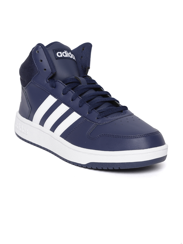 c7cc6bf81c9c Buy ADIDAS Men Navy Blue Hoops 2.0 Mid Basketball Shoes - Sports ...